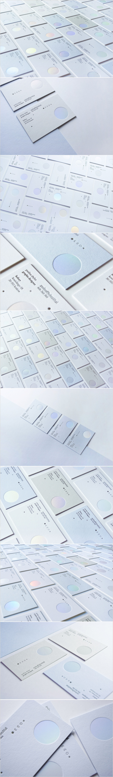 """Making Name Cards Check Out This Behance Project """"letterpress & Holographic"""