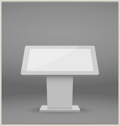 Marketing Banner Stand Digital Advertising Panel Stand Marketing Banner Vector Image