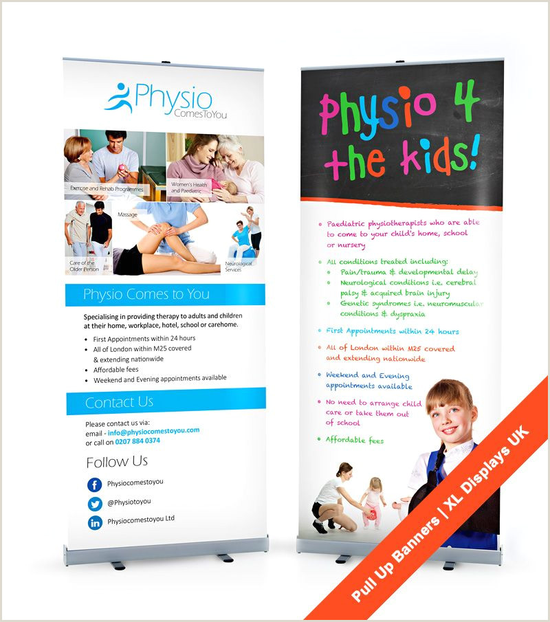 Marketing Banner Stand Pull Up Banners With Graphicdesign By Xl Displays Uk