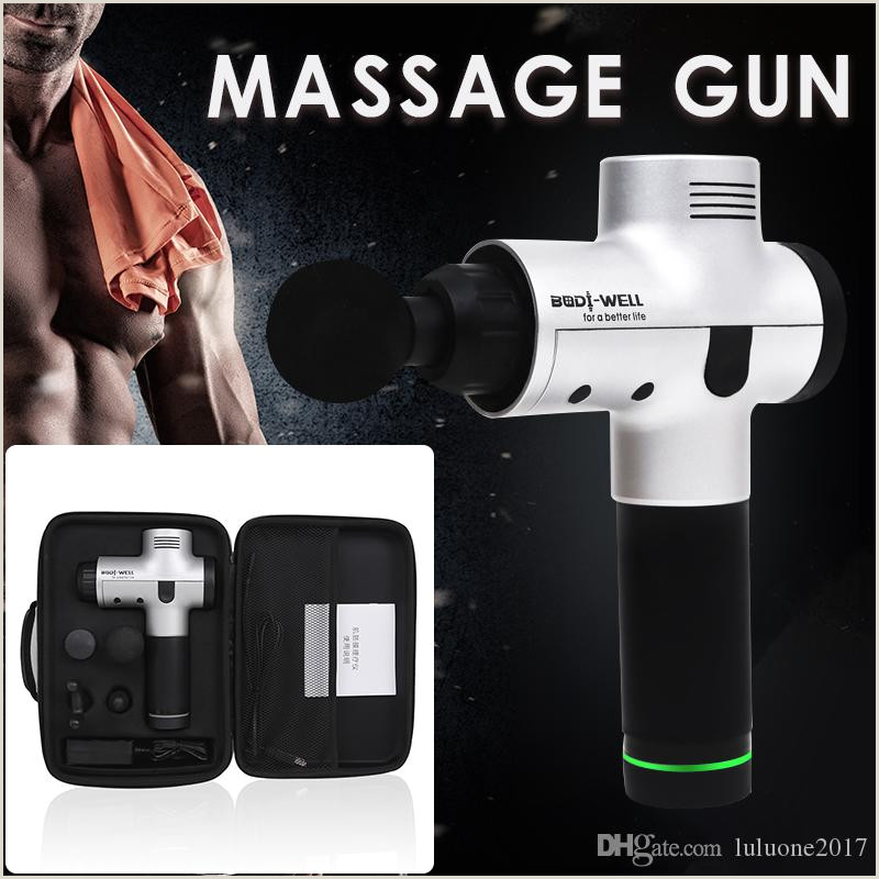 Massage Therapy Best Business Cards 2020 New Brand Massage Gun Percussion Massager Muscle Vibrating Relaxing Tools Therapy Fitness Trainer Deep Relax Fascia Gun Device With Case Bag From