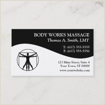 Massage Therapy Best Business Cards Body Massage Business Cards