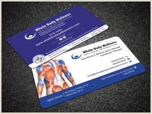 Massage Therapy Best Business Cards Massage Business Cards
