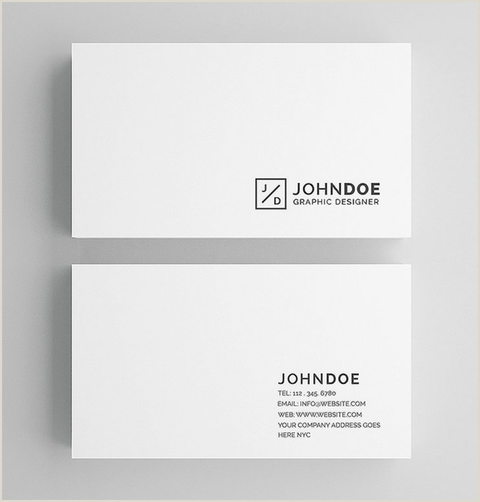 Minimalist Business Cards 30 Simple & Minimal Business Card Templates For 2020