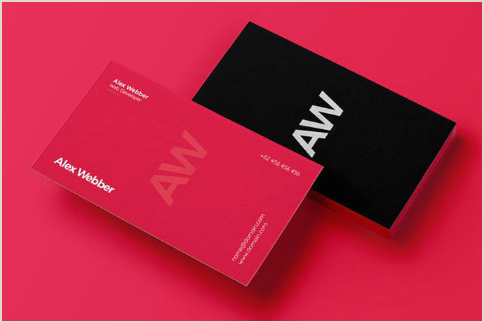 Minimalist Business Cards 40 Elegant Minimal Business Card Designs 2018 – Bashooka