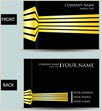 Modern Business Card Designs Vector Modern Business Card Free Vector 33 807