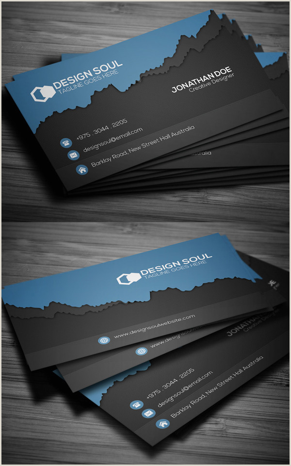 Modern Business Card Layout Modern Business Cards Design 26 Creative Examples