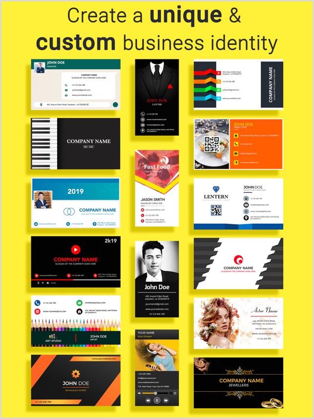 Modern Elegant Business Card Design Business Card Maker Creator On The App Store