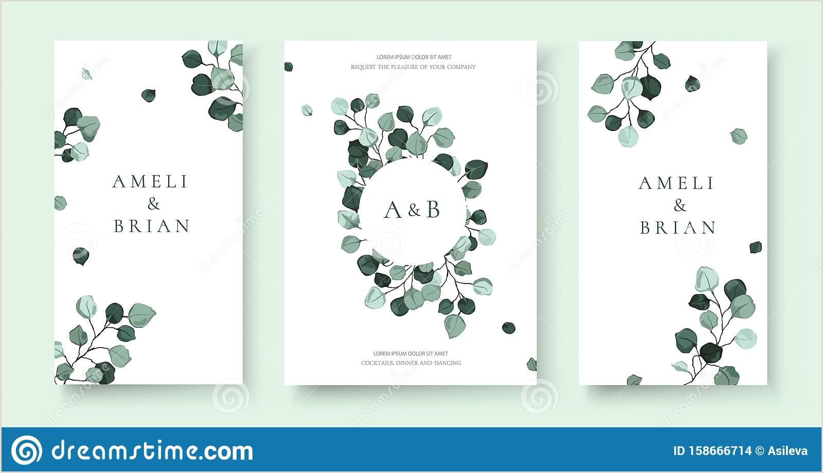 Modern Elegant Business Card Design Mint Green Wedding Invitation Background Stock Illustrations