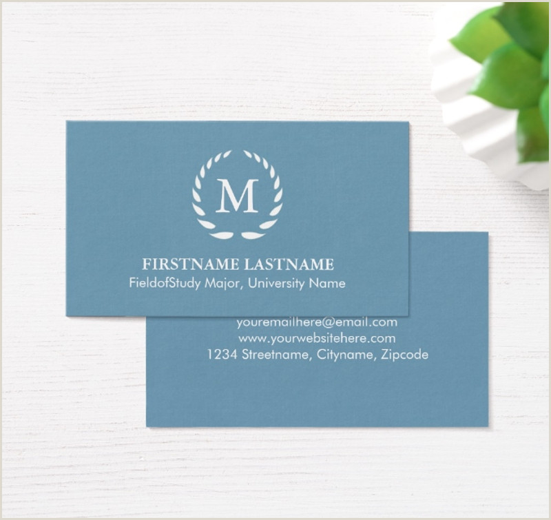 Modern Elegant Business Card Design Student Business Card Examples Free Resume Templates