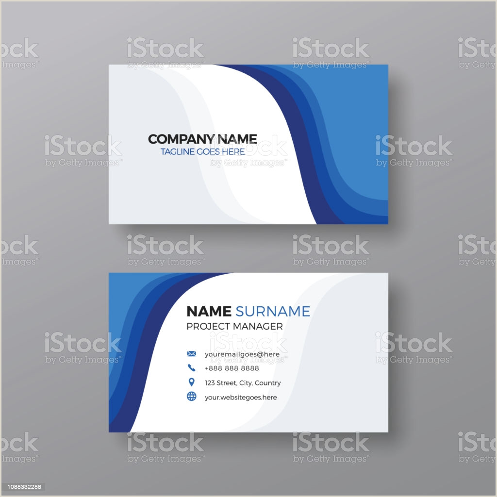 Modern Elegant Business Card Design Vector Blue Business Card Background Free Premium Vector
