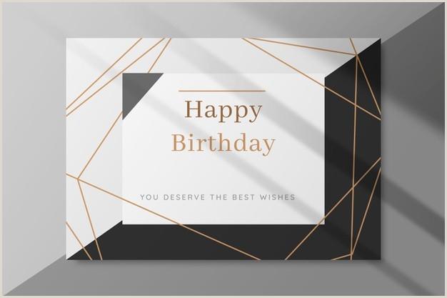 Modern Name Card Design Birthday Card