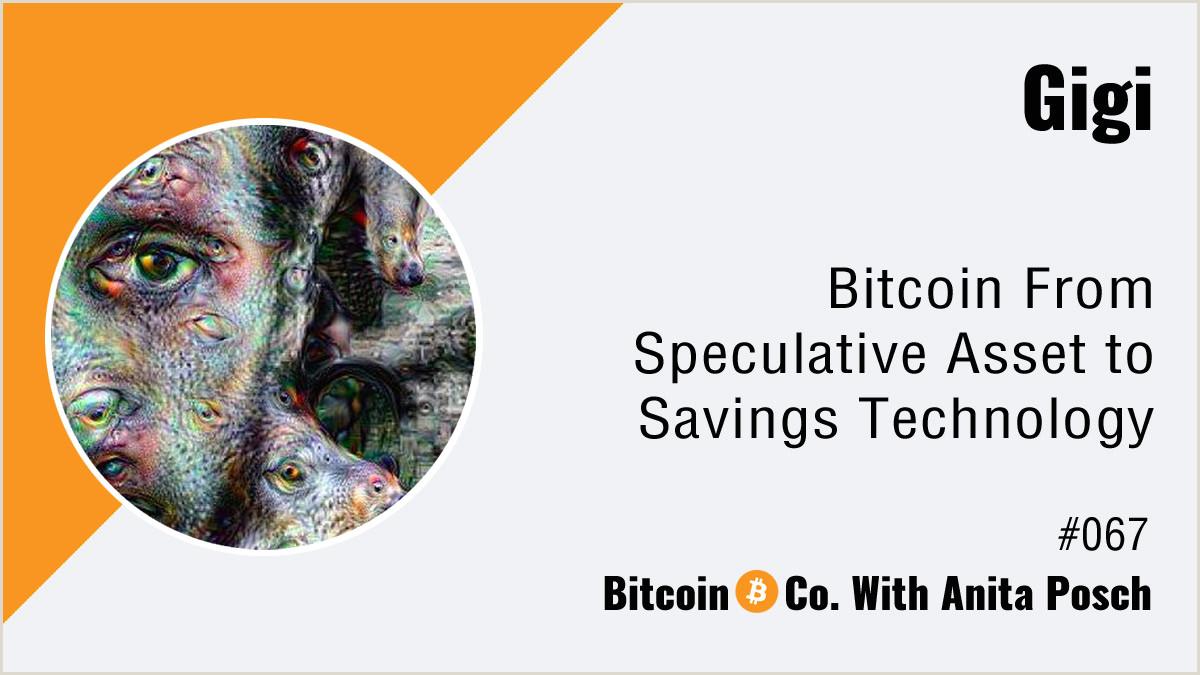 Modern Name Card Design Gigi Bitcoin From Speculative Asset To Savings Technology