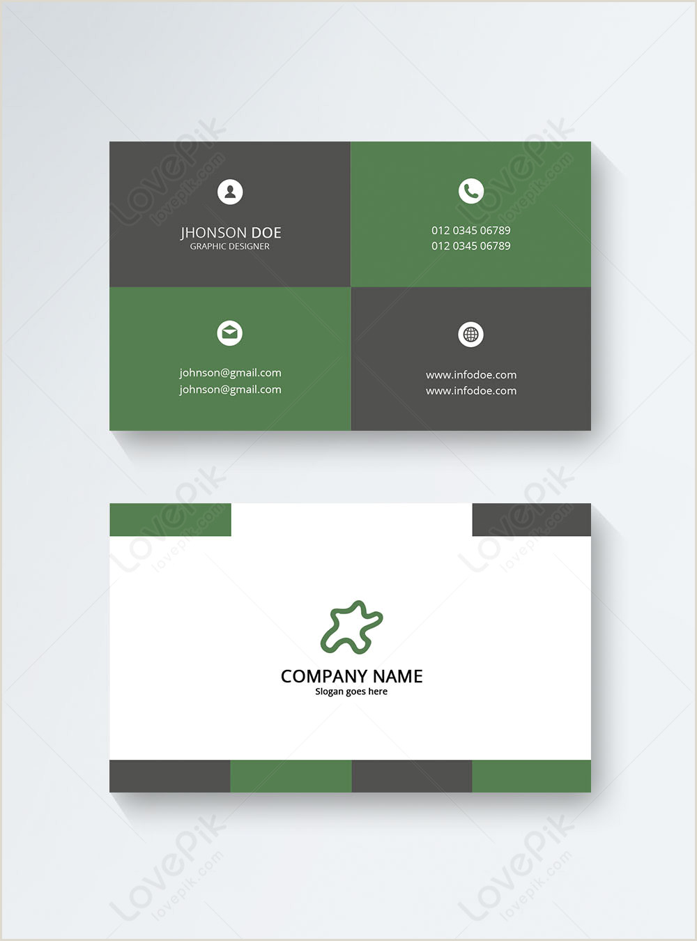 Modern Simple Business Cards Modern Business Card Template Image Picture Free