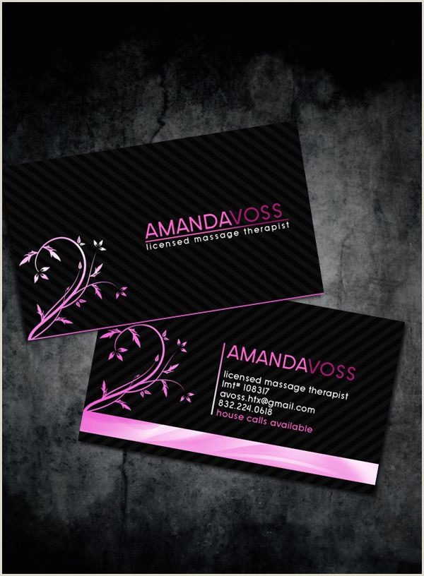 Most Unique Massage Therapy Business Cards Amanda Voss S Massage Therapist Business Cards