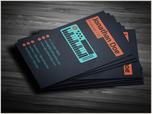 Music Business Card Design 20 Fantastic Business Cards For Musicians
