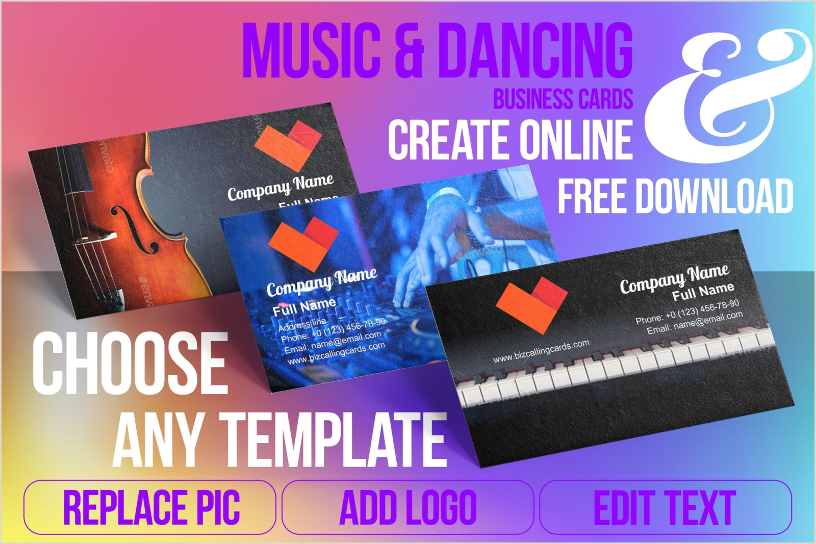 Music Business Card Design ✅ 72 Music & Dancing Business Card Examples