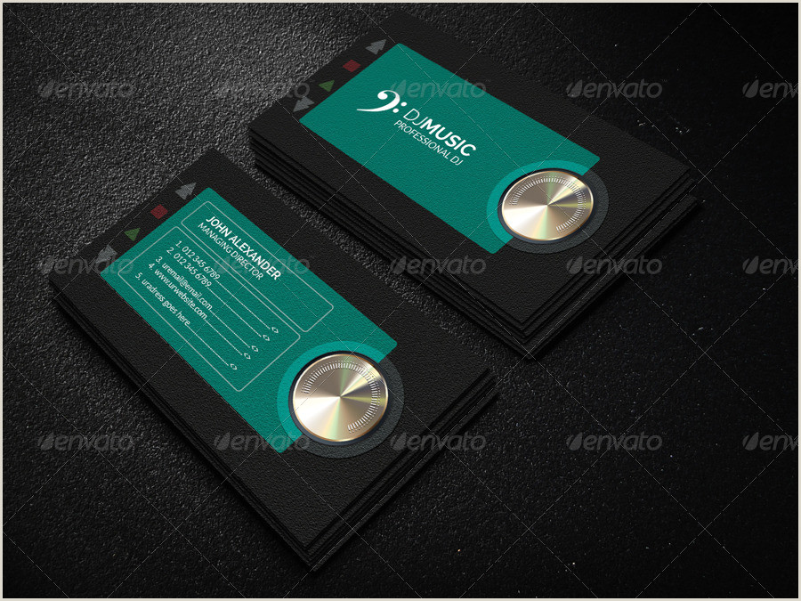 Music Business Card Design Free 19 Music Business Card Templates In Publisher