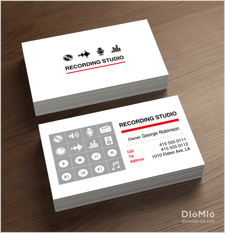 Music Business Card Design Music Studio Business Cards Diomioprint