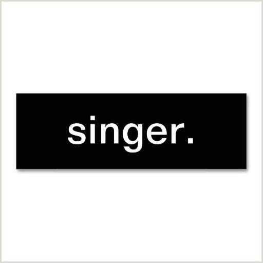 Music Business Card Design Singer Business Card Zazzle
