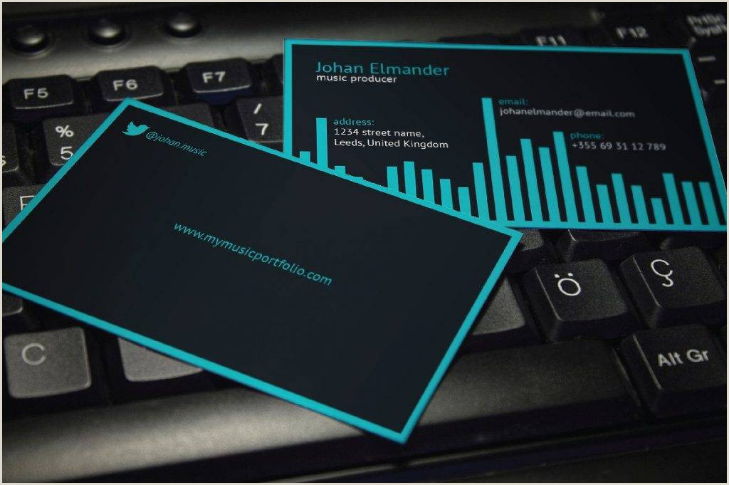 Music Business Card Ideas Free 19 Music Business Card Templates In Publisher
