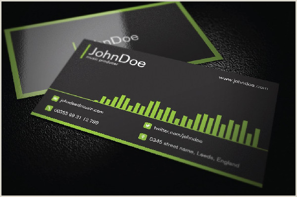 Music Business Card Ideas Music Business Card Template 29 Free & Premium Download