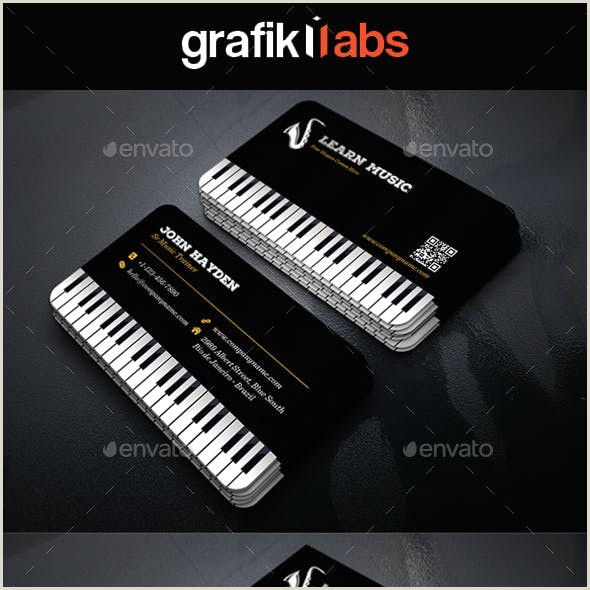 Music Business Cards Ideas ✅ 72 Music & Dancing Business Card Examples