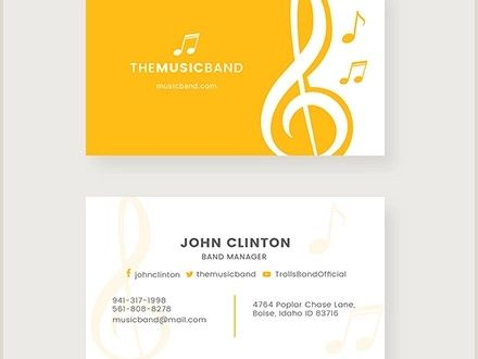 Music Business Cards Ideas Free 19 Music Business Card Templates In Publisher