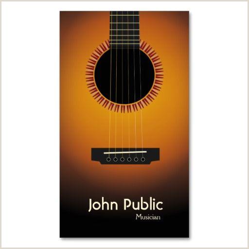 Music Business Cards Ideas Modern Elegant Guitar Musician Business Card