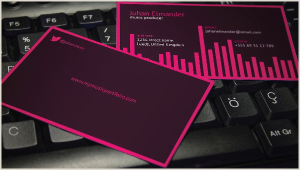 Music Business Cards Ideas Music Business Card Template 29 Free & Premium Download