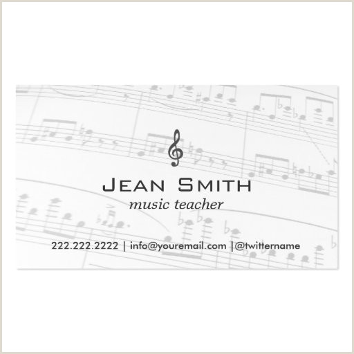 Music Business Cards Ideas Music Notes Business Card Templates