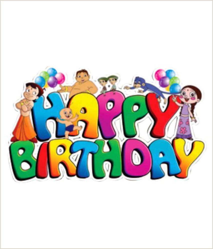 My Banner Is Clear Theme My Party Chhota Bheem Multi Color Happy Birthday