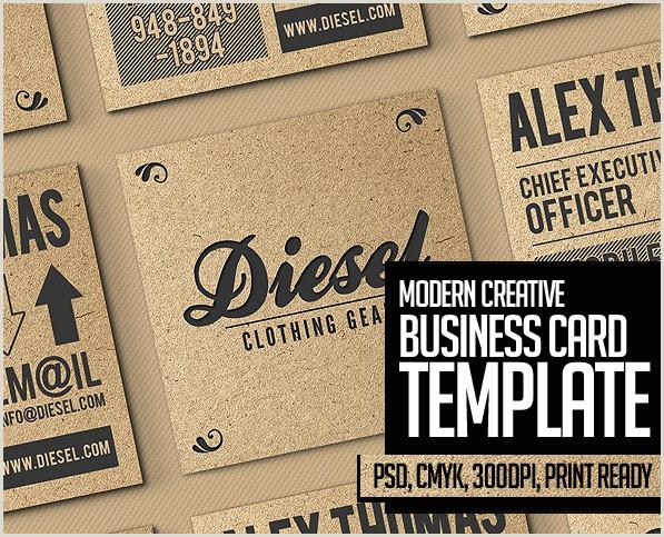 Name Card Design Template 25 New Modern Business Card Templates Print Ready Design