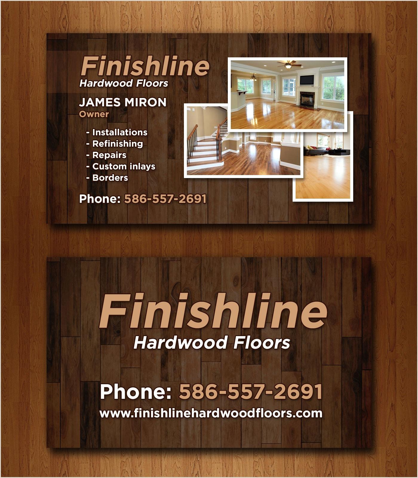 Name Card Sample 14 Popular Hardwood Flooring Business Card Template