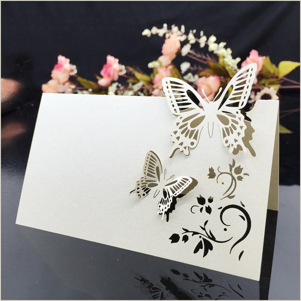 Name Cards Design Table Name Place Cards Wedding Party Favor Decor Butterfly Laser Cut Design 90 X 120mm 90 X 90mm Free Greeting Card Line Free Greeting Cards