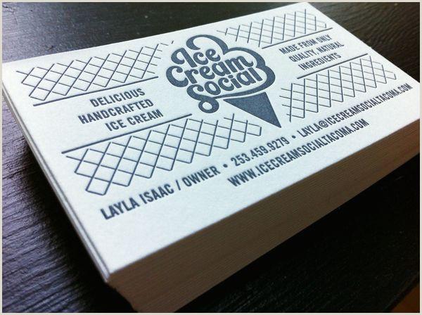 Nicest Business Cards Ice Cream Social