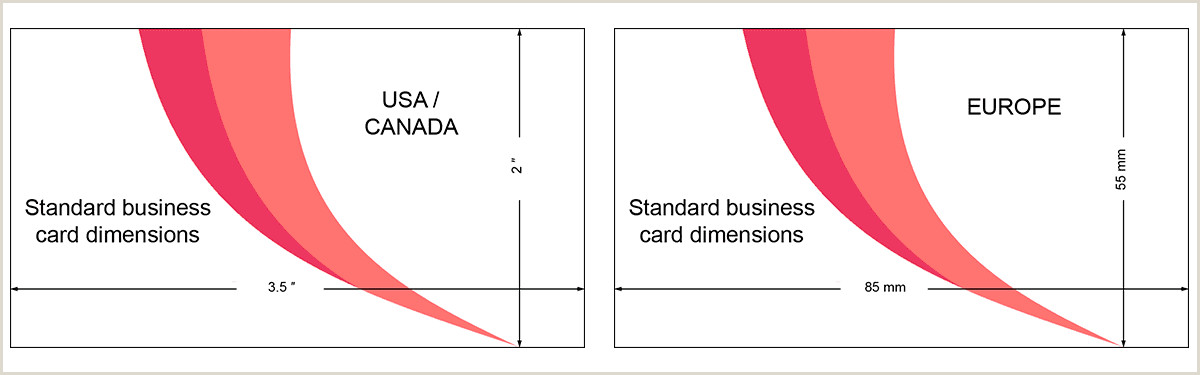 Normal Business Card Size Standard Business Card Size Characteristics And Dimensions