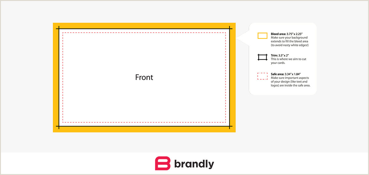 Normal Business Card Size Standard Business Card Sizes Free Templates