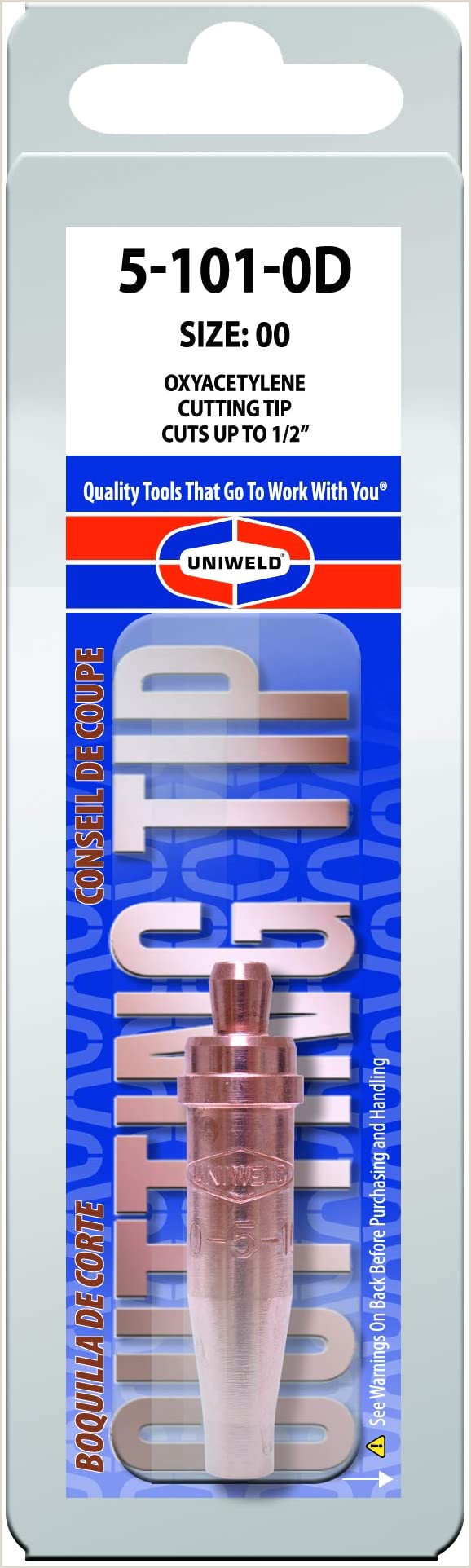 Normal Business Card Size Uniweld 5 101 0d Cutting Tip For Use With Acetylene