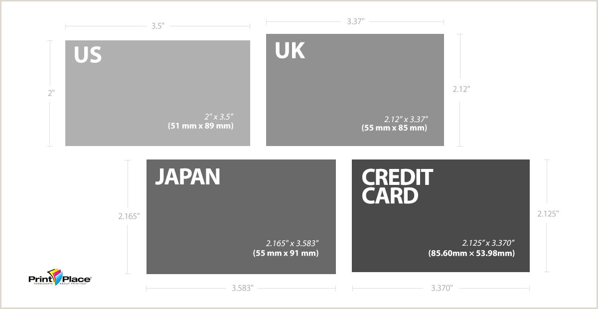 Normal Size For Business Card Standard Business Card Sizes Around The World