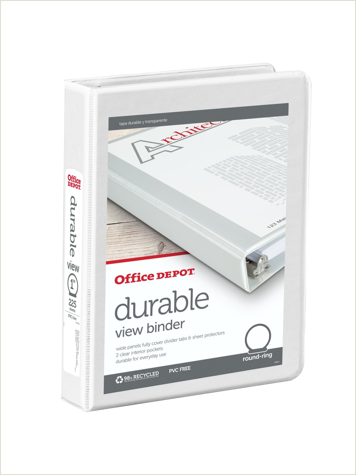 Office Max Banner Fice Depot Brand Durable View 3 Ring Binder 1 Round Rings