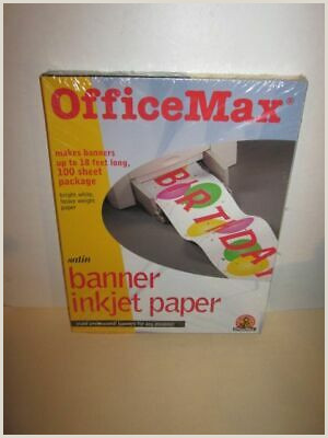 Office Max Banner Fice Max Satin Banner Inkjet Paper New
