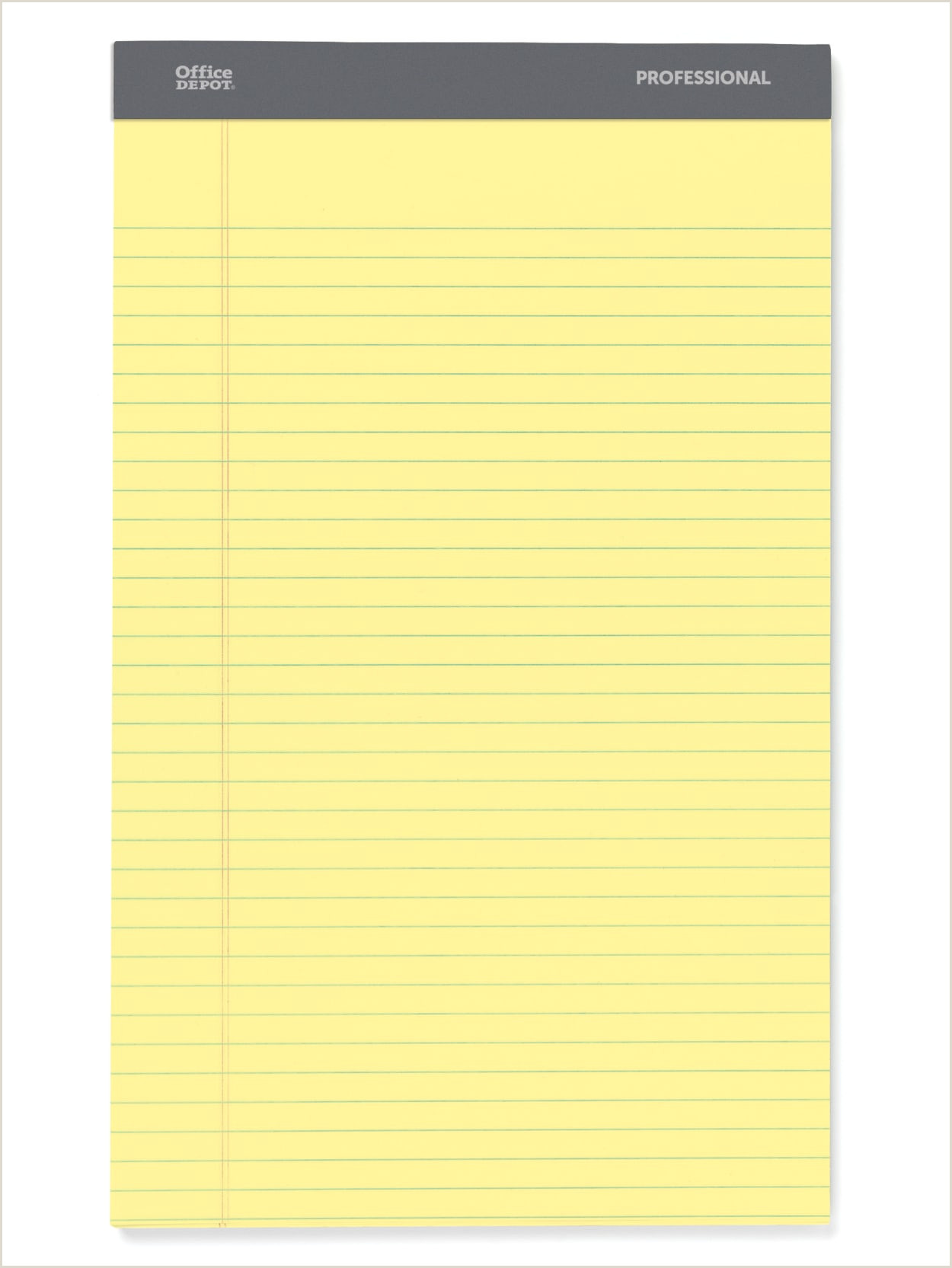 """Office Max Banner Prices Fice Depot Brand Professional Legal Pad 8 1 2"""" X 14"""" Canary Legal Ruled 50 Sheets 4 Pads Pack Item"""