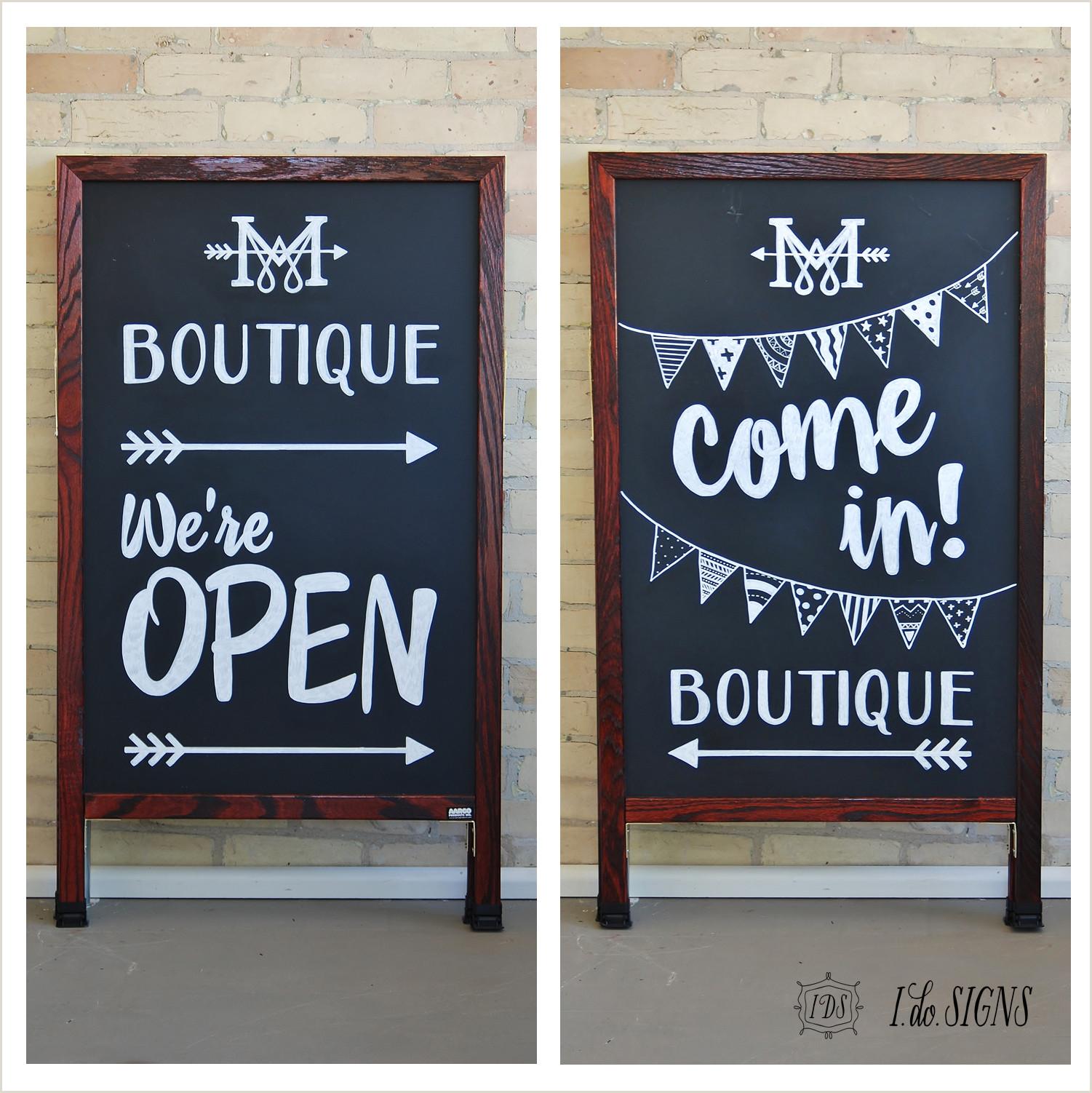 Open Sign Template Custom Business A Frame Sandwich Board Sign