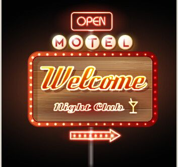 Open Sign Template Vector Neon Open Sign Free Vector 91 482 Free