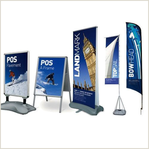 Outdoor Vertical Banner Stand Outdoor Banner Stand For Advertising Ramp Digital Solution