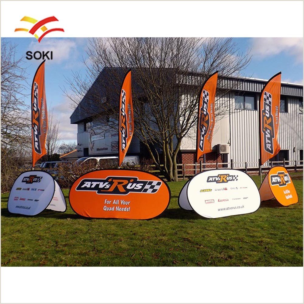 Oval Pop Up Banner China Outdoor Advertising Branded Pop Out Banner Round Oval