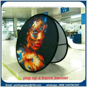 Oval Pop Up Banner Popup A Frame Banners Double Side Banner Stand Pop Up