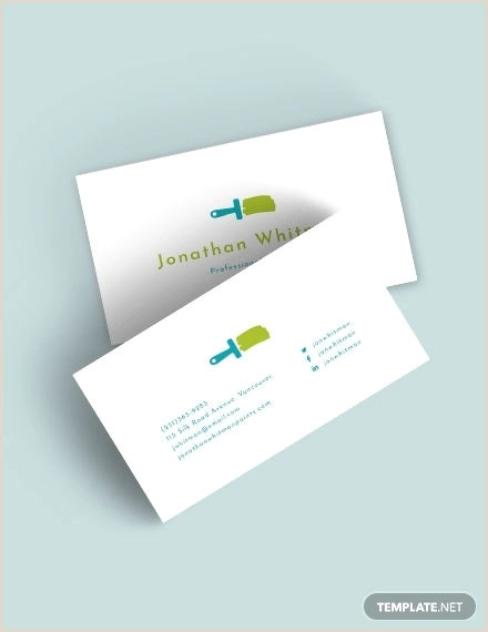 Painting Business Card Templates Free 22 Painter Business Card Designs & Templates Psd Ai