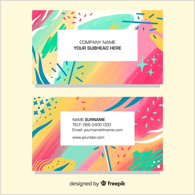 Painting Business Card Templates Free Free Vector