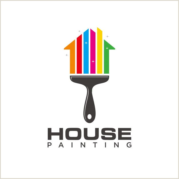 Painting Business Card Templates Free House Painting Logo Template Premium Vec